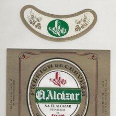 Coleccionismo de cervezas: ANTIGUA ETIQUETA EL ALCAZAR (1985). Lote 210673969