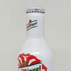 Coleccionismo de cervezas: BOTELLIN - CERVEZA SAN MIGUEL - ATLETIC DE BILBAO - CAR50. Lote 182908497