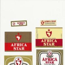 Coleccionismo de cervezas: INTERESANTE LOTE DE 5 ETIQUETAS DE LA ESTRELLA DE AFRICA. Lote 183008962
