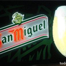 Coleccionismo de cervezas: LUMINOSO CERVEZA SAN MIGUEL PARA PARED O TECHO. Lote 183298282