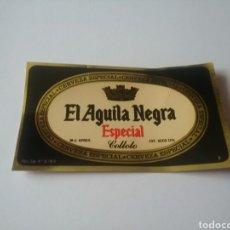 Coleccionismo de cervezas: ETIQUETA CERVEZAS ÁGUILA NEGRA - CERVEZA ESPECIAL. Lote 183564060