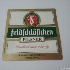 Coleccionismo de cervezas: ETIQUETA CERVEZA ALEMANA FELDFCHÖBCHEN. Lote 183564776