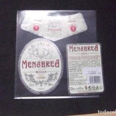 Coleccionismo de cervezas: CERVEZA-V9V-A-ETIQUETAS-MENABREA BIONDA. Lote 183584880