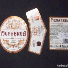 Coleccionismo de cervezas: CERVEZA-V9V-A-ETIQUETAS-MENABREA AMBRATA. Lote 183584930