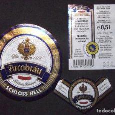Coleccionismo de cervezas: CERVEZA-V9V-A-ETIQUETAS-ARCOBRAU. Lote 183585311