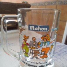 Coleccionismo de cervezas: JARRA CERVEZA MAHOU - HISTORIA DE LA CERVEZA - BELLE EPOQUE. Lote 184255071