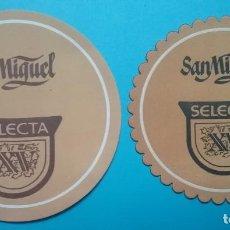 Coleccionismo de cervezas: CERVEZA SAN MIGUEL SELECTA POSAVASOS PUBLICIDAD LOTE 2. Lote 185890980