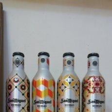Coleccionismo de cervezas: BOTELLAS DE ALUMINIO CERVEZA SAN MIGUEL. Lote 186164433