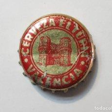 Coleccionismo de cervezas: CHAPA CERVEZA EL TURIA-VALENCIA FORRO CORCHO . Lote 186206426