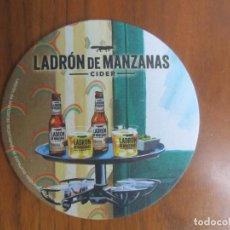 Coleccionismo de cervezas: POSA VASOS-CERVEZA LADRON DE MANZANAS-VER FOTOS. Lote 186224940