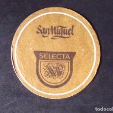 Coleccionismo de cervezas: CERVEZA-POSAVASOS-V28-BEER-I-SAN MIGUEL-SELECTA XV. Lote 186324600