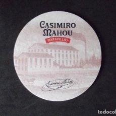 Coleccionismo de cervezas: CERVEZA-POSAVASOS-V28-BEER-I-MAHOU-CASIMIRO MAHOU-MARAVILLAS. Lote 186325380