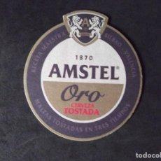 Coleccionismo de cervezas: CERVEZA-POSAVASOS-V28-BEER-I-AMSTEL-ORO-TOSTADA. Lote 186327213