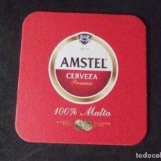 Coleccionismo de cervezas: CERVEZA-POSAVASOS-V28-BEER-I-AMSTEL. Lote 186328000
