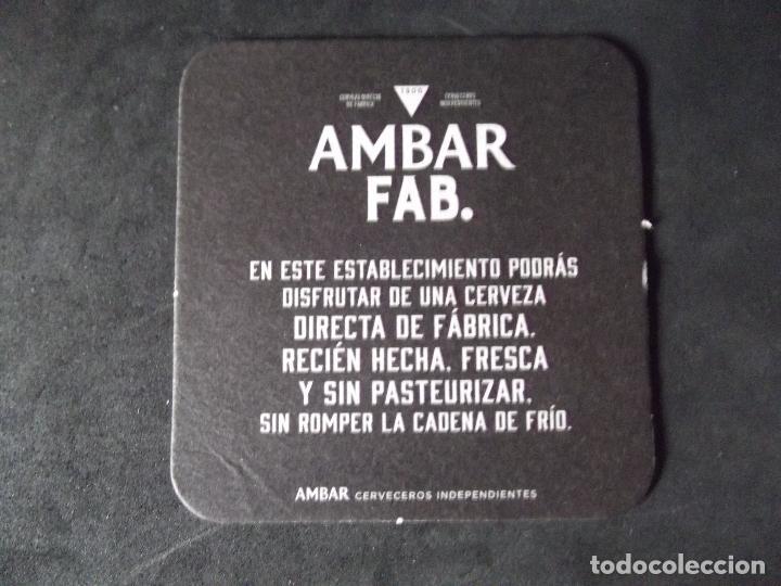 Coleccionismo de cervezas: CERVEZA-POSAVASOS-V28-BEER-I-AMBAR-FAB. - Foto 2 - 186328367