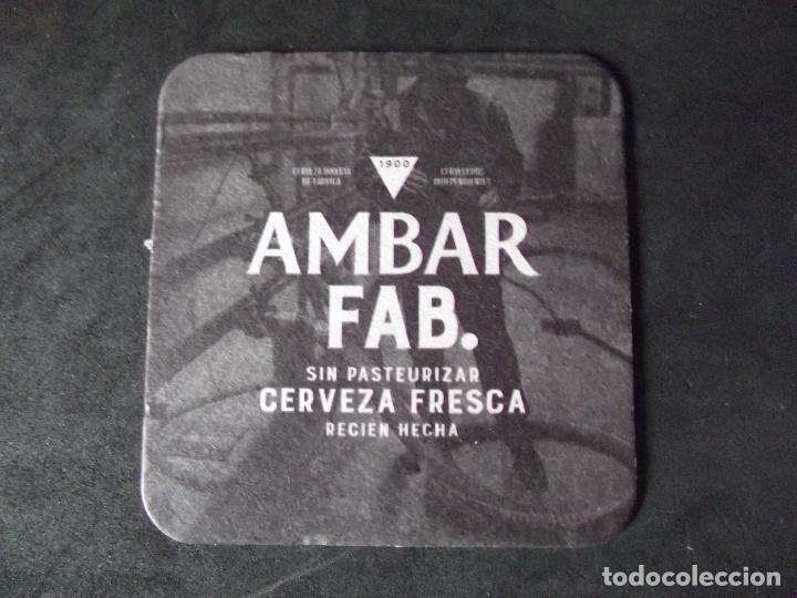 CERVEZA-POSAVASOS-V28-BEER-I-AMBAR-FAB. (Coleccionismo - Botellas y Bebidas - Cerveza )