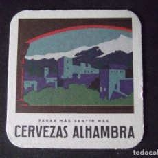 Coleccionismo de cervezas: CERVEZA-POSAVASOS-V28-BEER-I-ALHAMBRA. Lote 186328435