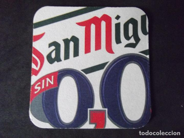 Coleccionismo de cervezas: CERVEZA-POSAVASOS-V28-BEER-I-SAN MIGUEL-SIN-0,0 - Foto 2 - 186328566