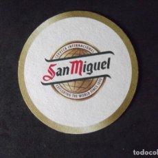 Coleccionismo de cervezas: CERVEZA-POSAVASOS-V28-BEER-I-SAN MIGUEL. Lote 186328743