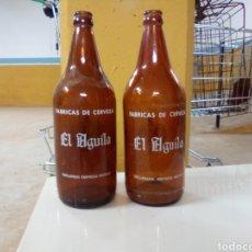 Coleccionismo de cervezas: BOTELLAS CERVEZA EL ÁGUILA LITRO. Lote 186341256