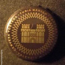 Coleccionismo de cervezas: CHAPA CERVEZA TURIA. Lote 187185667