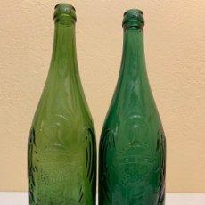 Coleccionismo de cervezas: ANTIGUAS BOTELLAS DE CERVEZA EL AGUILA, DIFERENTES RELIEVES Y TAMAÑO. Lote 187198078