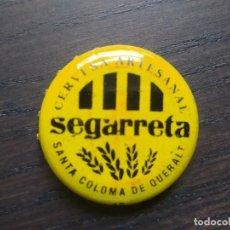 Coleccionismo de cervezas: TAPON CORONA CERVEZA ARTESANA SEGARRETA. CHAPON. FABRICANTE AP. Lote 187384293