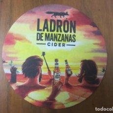 Coleccionismo de cervezas: POSAVASOS-CERVEZA LADRON DE MANZANAS-VER FOTOS. Lote 187541631