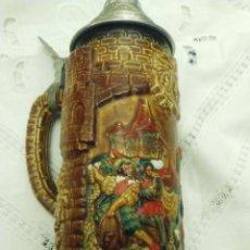 Coleccionismo de cervezas: JARRA DE CERVEZA CON TAPA, ALEMANA. Lote 189726363