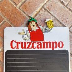 Coleccionismo de cervezas: CARTEL PIZARRA CERVEZA CRUZCAMPO. Lote 189834935