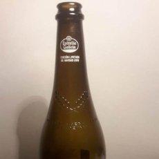 Coleccionismo de cervezas: BOTELLA CERVEZA ESTRELLA GALICIA NAVIDAD 2019 ED. LIMITADA. CON CORCHO Y PLACA. Lote 190896405