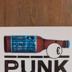 Coleccionismo de cervezas: PUNK IPA - TRÍPTICO - CERVEZA ESCOCESA. Lote 191213631