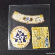 Coleccionismo de cervezas: CERVEZA-V9ET-III-ETIQUETAS-MORITZ-BARCELONA. Lote 191813648