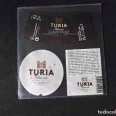 Coleccionismo de cervezas: CERVEZA-V9ET-III-ETIQUETAS-TURIA-MARZEN-VALENCIA. Lote 191813753