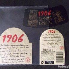 Coleccionismo de cervezas: CERVEZA-V9ET-III-ETIQUETAS-1906-CORUÑA. Lote 191814478