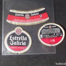Coleccionismo de cervezas: CERVEZA-V9ET-III-ETIQUETAS-ESTRELLA GALICIA-ESPECIAL. Lote 191814748