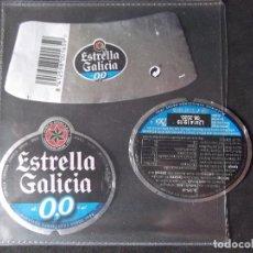 Coleccionismo de cervezas: CERVEZA-V9ET-III-ETIQUETAS-ESTRELLA GALICIA-0,0. Lote 191814790