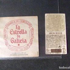 Coleccionismo de cervezas: CERVEZA-V9ET-III-ETIQUETAS-ESTRELLA GALICIA. Lote 191814827
