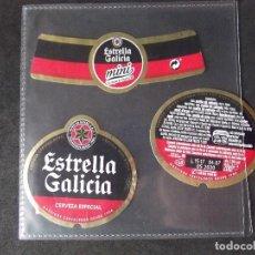 Coleccionismo de cervezas: CERVEZA-V9ET-III-ETIQUETAS-ESTRELLA GALICIA-ESPECIAL-MINI. Lote 191814867