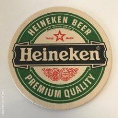 Coleccionismo de cervezas: POSA-VASOS CERVEZA HEINEKEN 11CMS POSAVASOS. Lote 192354086