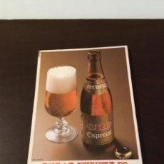 Coleccionismo de cervezas: ANTIGUA CERVEZA ORO BLOCK DE NOTAS. Lote 192409877