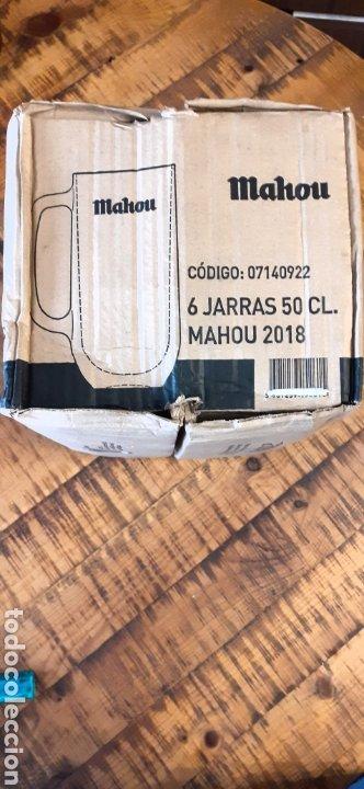 Coleccionismo de cervezas: MAHOU- CAJA CON 6 JARRAS 50 CL - CERVEZA MADRID - Foto 8 - 192441203