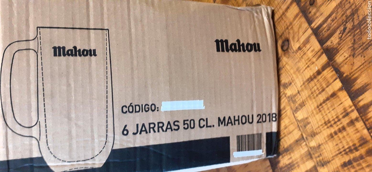 Coleccionismo de cervezas: MAHOU- CAJA CON 6 JARRAS 50 CL - CERVEZA MADRID - Foto 10 - 192441203