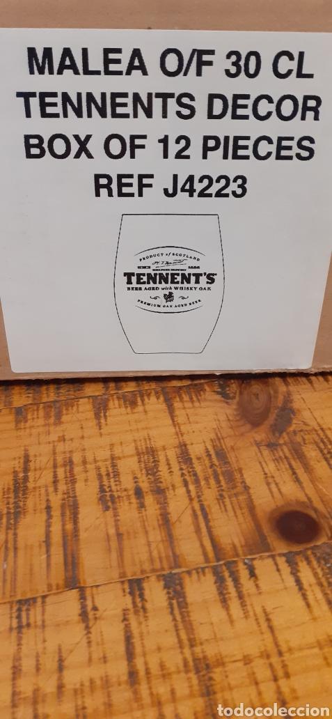Coleccionismo de cervezas: TENNENTS BEER AGED WHISKY - CAJA CON 12 VASOS - ESCOCESA - Foto 3 - 192445755