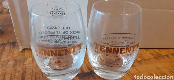 Coleccionismo de cervezas: TENNENTS BEER AGED WHISKY - CAJA CON 12 VASOS - ESCOCESA - Foto 7 - 192445755