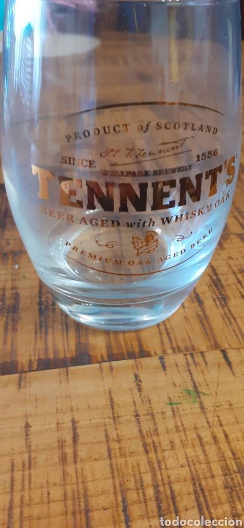 TENNENTS BEER AGED WHISKY - CAJA CON 12 VASOS - ESCOCESA (Coleccionismo - Botellas y Bebidas - Cerveza )