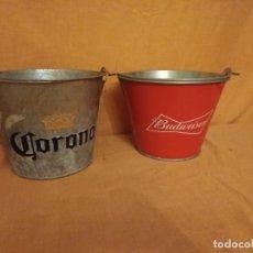 Coleccionismo de cervezas: LOTE DE 2 CUBOS, CORONA Y BUDWEISER. Lote 192598096