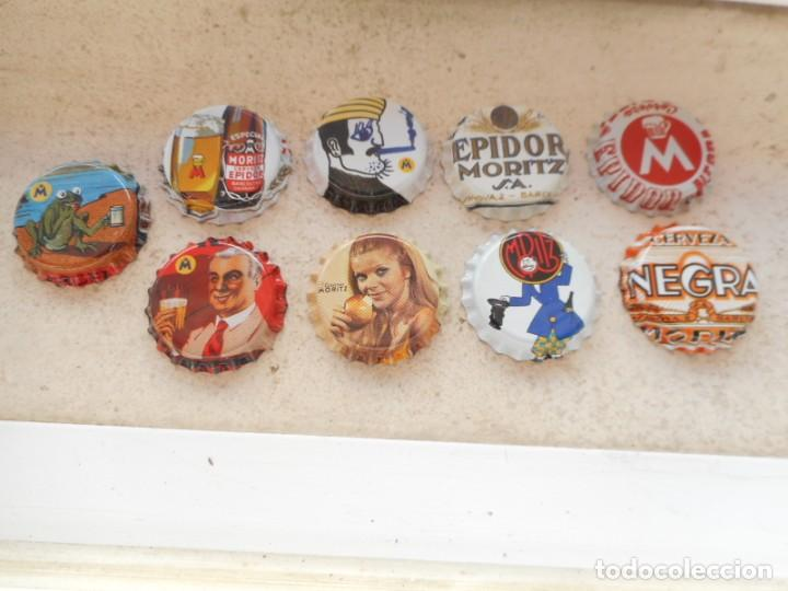 SET CHAPAS CERVEZA MORITZ (Coleccionismo - Botellas y Bebidas - Cerveza )