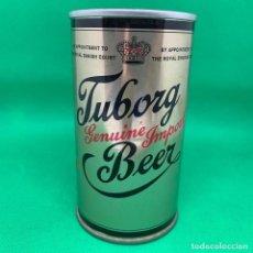 Coleccionismo de cervezas: LATA DE CERVEZA TUBORG GENUINE IMPORT BEER - DINAMARCA. Lote 193724670