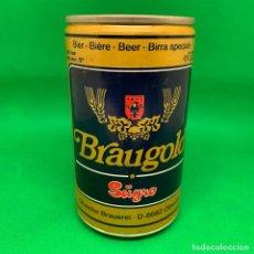 Coleccionismo de cervezas: LATA DE CERVEZA BRAUGOLD- ALEMANIA. Lote 193725027